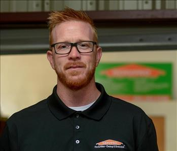 Man with red hair in SERVPRO uniform