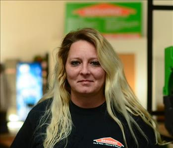 Smiling blonde woman in SERVPRO uniform