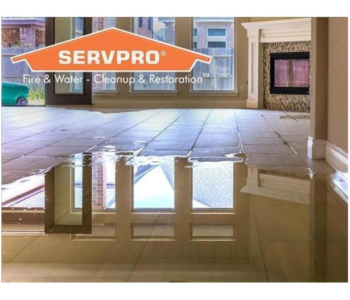 SERVPRO® water damage graphic