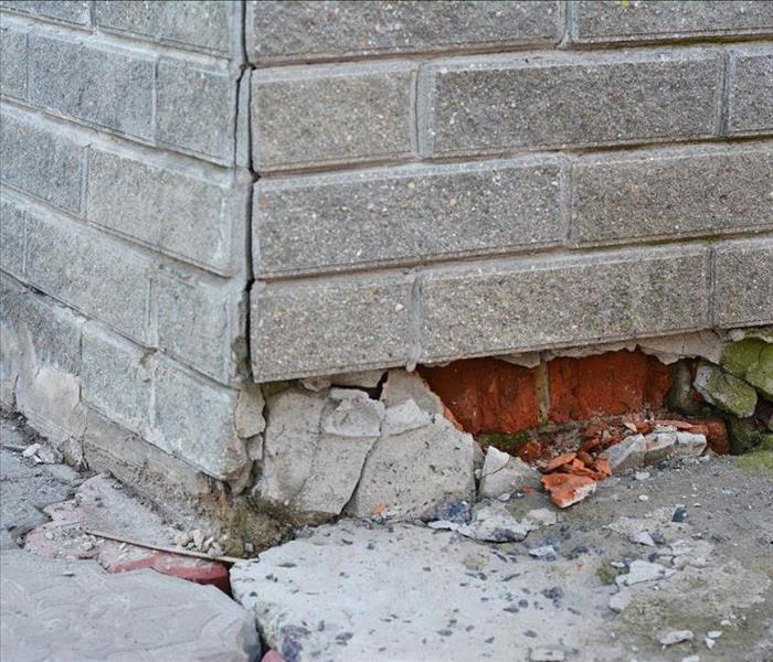 Storm Damage Weakening Blockwork Can Allow Flood Damage To Your Montgomery Home